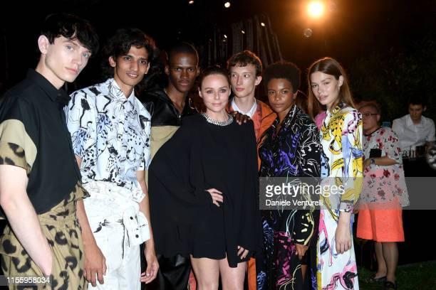 Fashion designer Stella McCartney and models pose at the presentation of Stella McCartney during the Milan Men's Fashion Week Spring/Summer 2020 on...