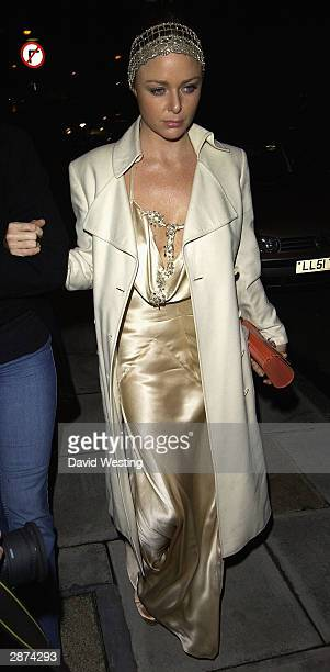 Fashion Designer Stella McCartney attends Kate Moss' 30th birthday party at the home of Agent Provocateur owner Serena Rees on January 16 2004 in...