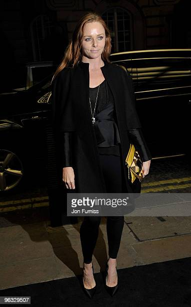 Fashion designer Stella McCartney attends the A Single Man film premiere at the Curzon Mayfair on February 1 2010 in London England