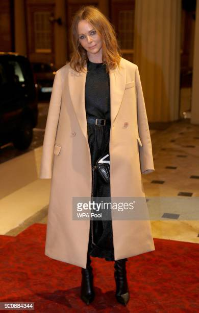 Fashion designer Stella McCartney attends The Commonwealth Fashion Exchange Reception at Buckingham Palace on February 19 2018 in London England