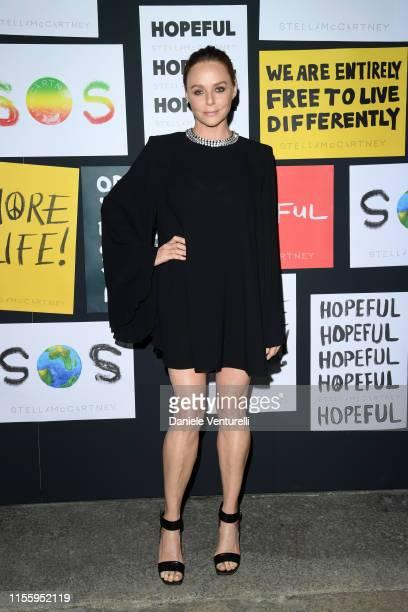Fashion designer Stella McCartney attends the presentation of Stella McCartney during the Milan Men's Fashion Week Spring/Summer 2020 on June 14 2019...