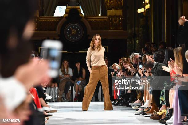Fashion designer Stella McCartney is seen on the runway during the Stella McCartney show as part of the Paris Fashion Week Womenswear Spring/Summer...