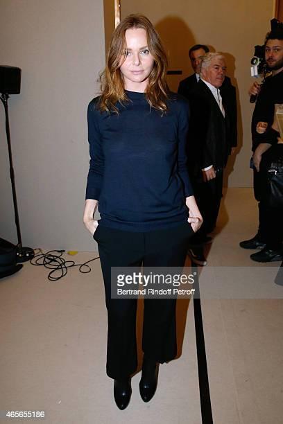 Fashion Designer Stella McCartney poses Backstage after the Stella McCartney show as part of the Paris Fashion Week Womenswear Fall/Winter 2015/2016...