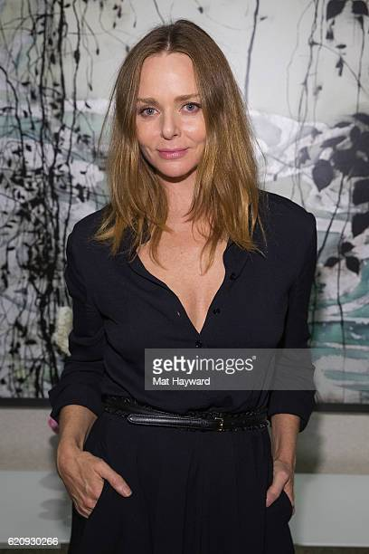 Fashion designer Stella McCartney poses for a photo during a personal appearance at Nordstrom Downtown Seattle on November 3 2016 in Seattle...