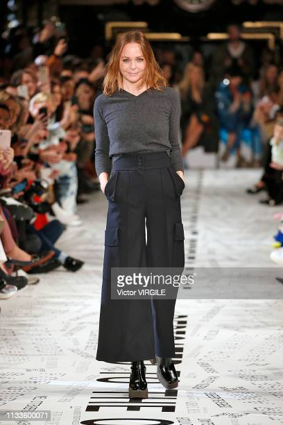 Fashion designer Stella McCartney walks the runway during the Stella McCartney Ready to Wear fashion show as part of the Paris Fashion Week...