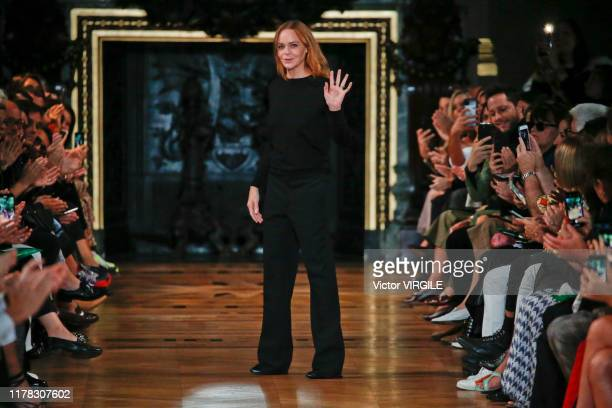 Fashion designer Stella McCartney walks the runway during the Stella McCartney Ready to Wear Spring/Summer 2020 fashion show as part of Paris Fashion...