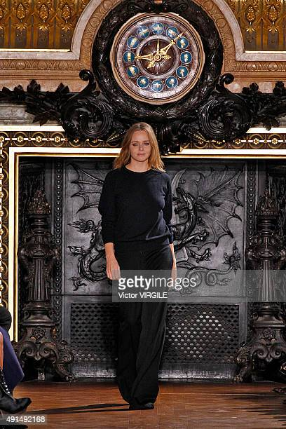 Fashion designer Stella McCartney walks the runway during the Stella McCartney Ready to Wear show as part of the Paris Fashion Week Womenswear...