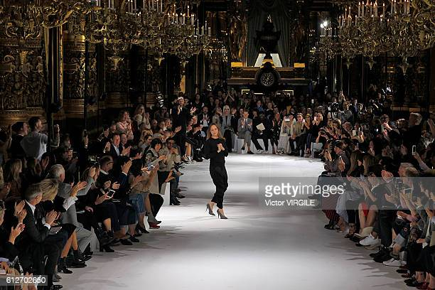 Fashion designer Stella McCartney walks the runway during the Stella McCartney Ready to Wear fashion show as part of the Paris Fashion Week...