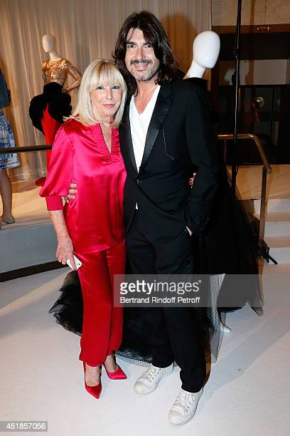 Fashion designer Stephane Rolland and his mother Genevieve Darmon attend the Stephane Rolland show as part of Paris Fashion Week Haute Couture...