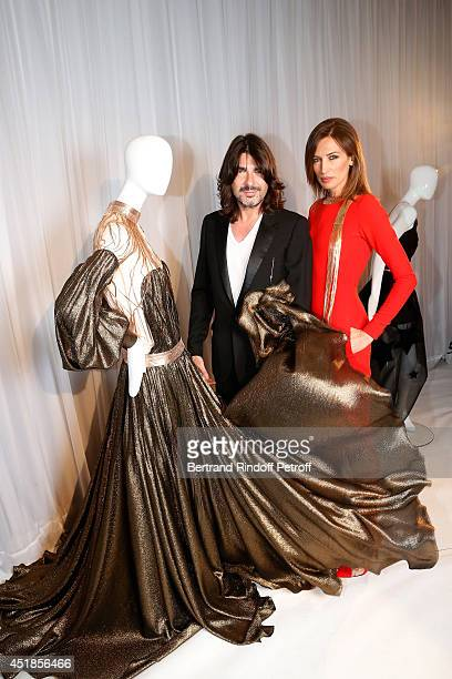 Fashion designer Stephane Rolland and model Nieves Alvarez attend the Stephane Rolland show as part of Paris Fashion Week - Haute Couture Fall/Winter...