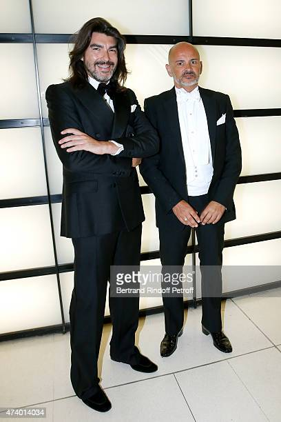 Fashion Designer Stephane Rolland and Pierre Martinez attend the AROP Charity Gala with the Opera 'Le Roi Arthus' Music and Libretto from Ernest...