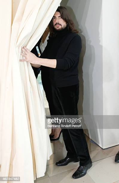Fashion Designer Stephane Rolland attends his show as part of Paris Fashion Week Haute Couture Spring/Summer 2015 on January 27, 2015 in Paris,...