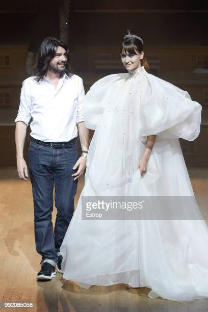 Fashion designer Stephane Rolland during the Stephane Rolland Haute Couture Fall Winter 2018/2019 show as part of Paris Fashion Week on July 3, 2018...