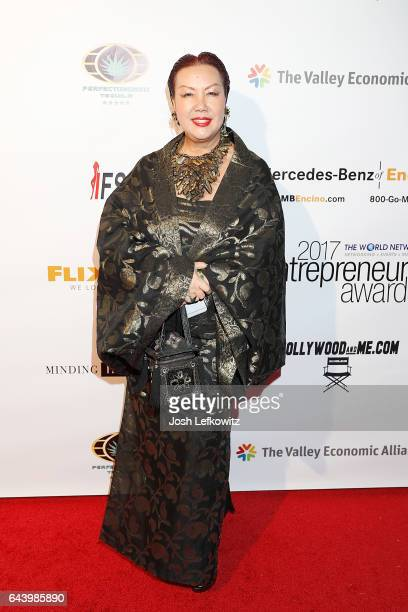 Fashion Designer Sue Wong attends the 2017 Entrepreneur Awards at Allure Events And Catering on February 22 2017 in Van Nuys California