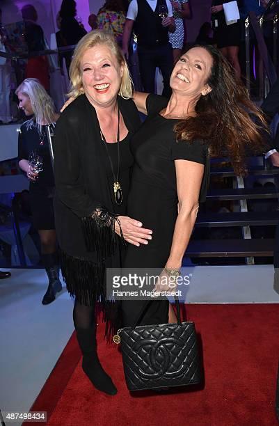 Fashion designer Susanne Wiebe and actress Christine Neubauer during the 'Susanne Wiebe Fashion Art Show' on September 9 2015 in Munich Germany