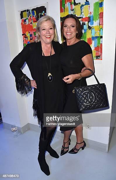 Fashion designer Susanne Wiebe and actress Christine Neubauer during the 'Susanne Wiebe Fashion & Art Show' on September 9, 2015 in Munich, Germany.