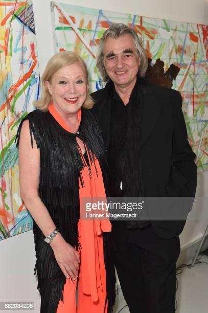 Fashion designer Susanne Wiebe and her boyfriend Karsten Temme during 'Maximilian Seitz EinwicklungenImpressionismusFest im Orient' Exhibition...