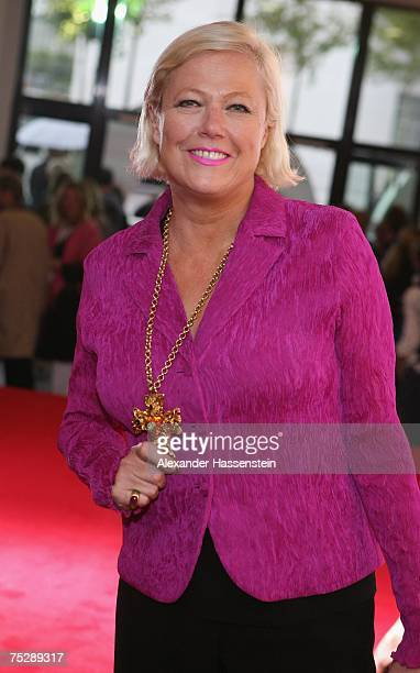 Fashion Designer Susanne Wiebe arrives at the GQ fashion show during the GQ style night at the Wappenhalle July 9, 2007 in Munich, Germany.