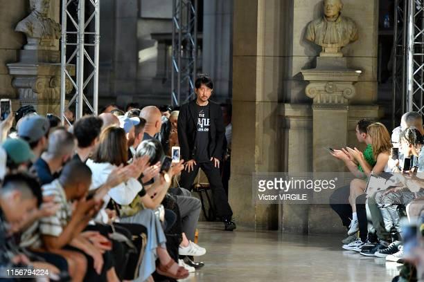 Fashion designer Takahiromiyashita walks the runway at the Takahiromiyashita Thesoloist fashion show during Paris Men's Fashion Week Spring/Summer...