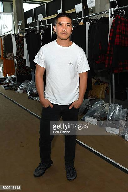 Fashion designer Thakoon Panichgul backstage at the Thakoon fashion show on September 8 2016 in New York City