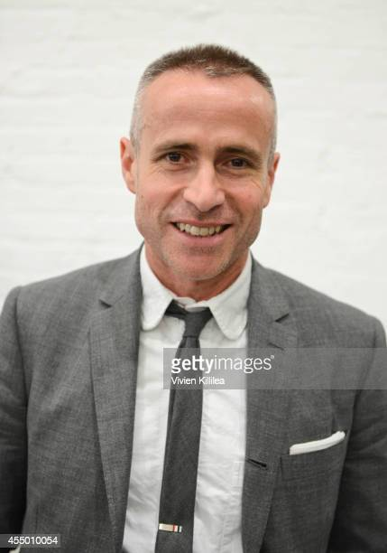 Fashion designer Thom Browne attends the Thom Browne Women's fashion show during MercedesBenz Fashion Week Spring 2015 on September 8 2014 in New...
