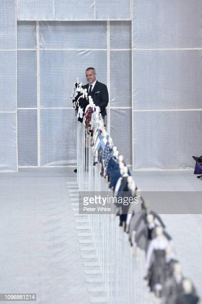 Fashion designer Thom Browne walks the runway during the finale of Thom Browne Menswear Fall/Winter 20192020 show as part of Paris Fashion Week on...