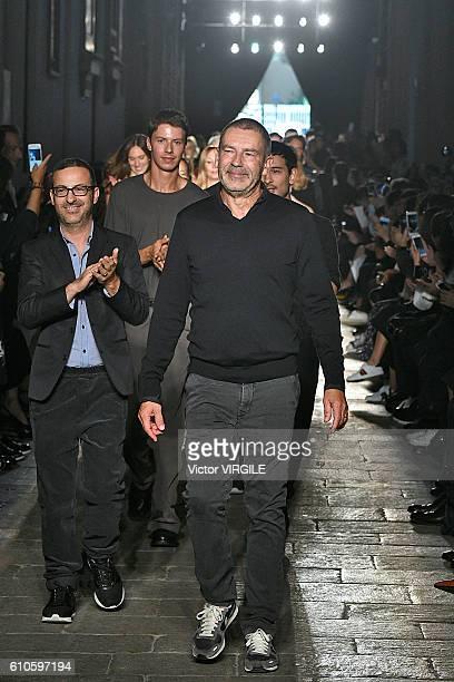 Fashion designer Thomas Maier walks the runway at the Bottega Veneta designed by Thomas Maier Ready to Wear show during Milan Fashion Week...