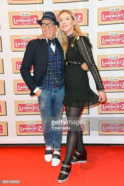 Fashion Designer Thomas Rath and Jette Joop attend the 'Lambertz Monday Schoko Night 2017' on January 30 2017 in Cologne Germany