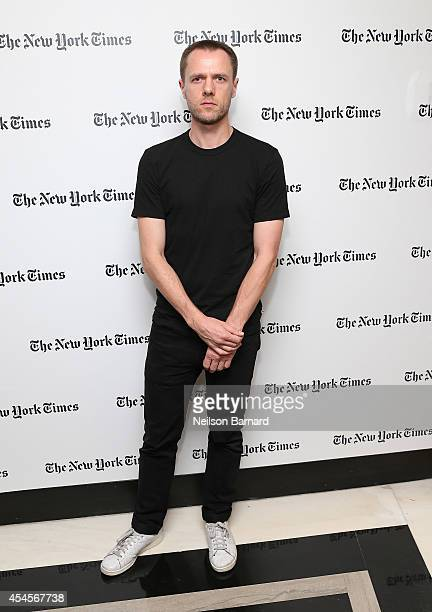 Fashion designer Tim Coppens attends the New York Times Vanessa Friedman and Alexandra Jacobs welcome party on September 3 2014 in New York City