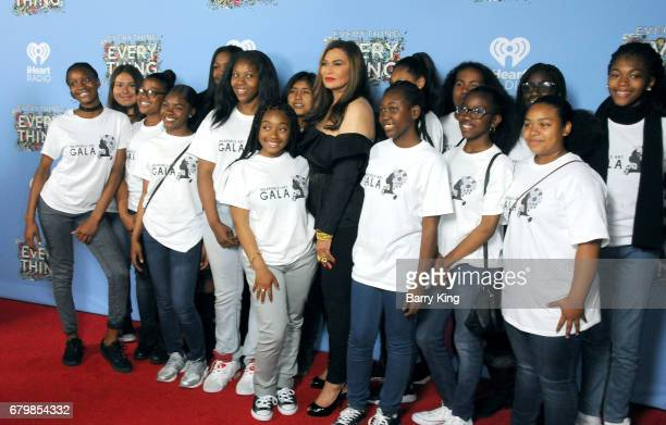 Fashion designer Tina Knowles and guests attend screening of Warner Bros Pictures' 'Everything Everything' at TCL Chinese Theatre on May 6 2017 in...