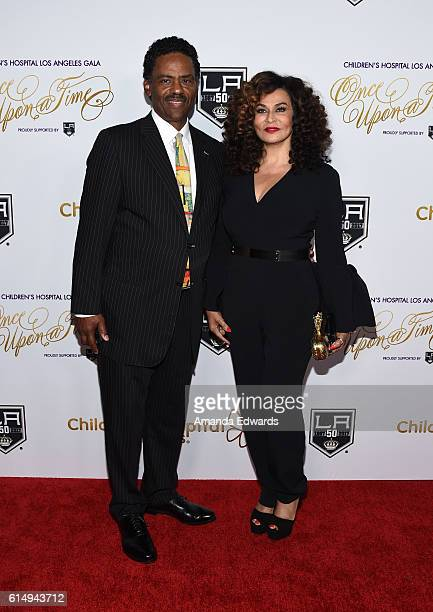 Fashion designer Tina Knowles and Richard Lawson arrive at the 2016 Children's Hospital Los Angeles Once Upon a Time Gala at the LA Live Event Deck...