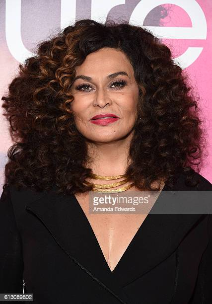 Fashion designer Tina Knowles arrives at the premiere of HBO's Insecure at the Nate Holden Performing Arts Center on October 6 2016 in Los Angeles...