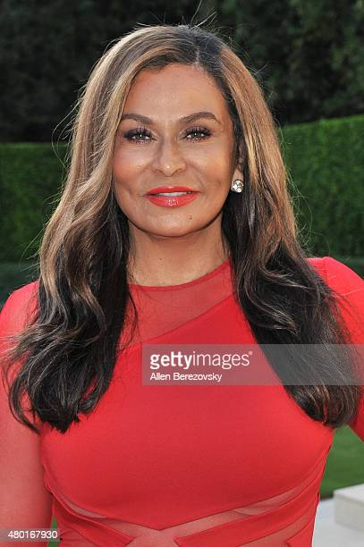 Fashion designer Tina Knowles Lawson attends a Champagne Toast in honor of her July cover hosted by Ebony in Los Angeles California