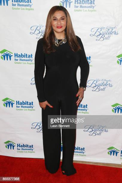 Fashion designer Tina Knowles Lawson attends the 2017 Los Angeles Builders Ball at The Beverly Hilton Hotel on September 28 2017 in Beverly Hills...