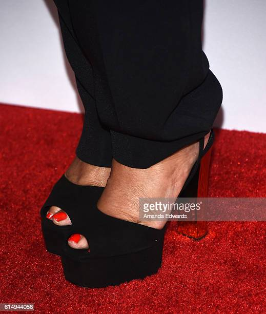 Fashion designer Tina Knowles shoe detail arrives at the 2016 Children's Hospital Los Angeles Once Upon a Time Gala at the LA Live Event Deck on...