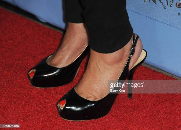 Fashion Designer Tina Knowles shoe detail attends screening of Warner Bros Pictures' 'Everything Everything' at TCL Chinese Theatre on May 6 2017 in...