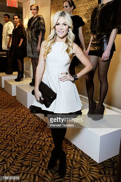 Fashion Designer Tinsley Mortimer attends the Marusya Fall/Winter 2012 Collection Presentation at The Peninsula Hotel on February 2 2012 in New York...