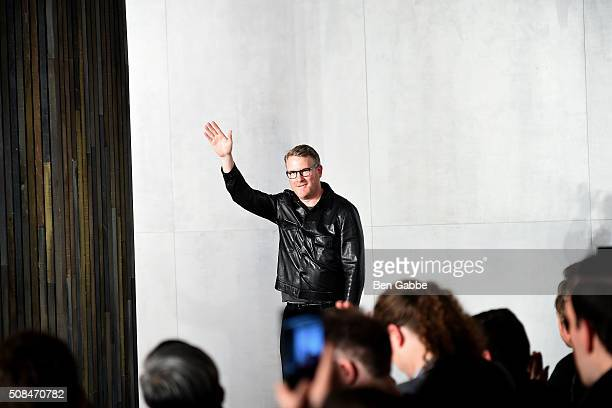 Fashion designer Todd Snyder attends the Todd Snyder fashion show during New York Fashion Week Men's Fall/Winter 2016 at Skylight at Clarkson Sq on...