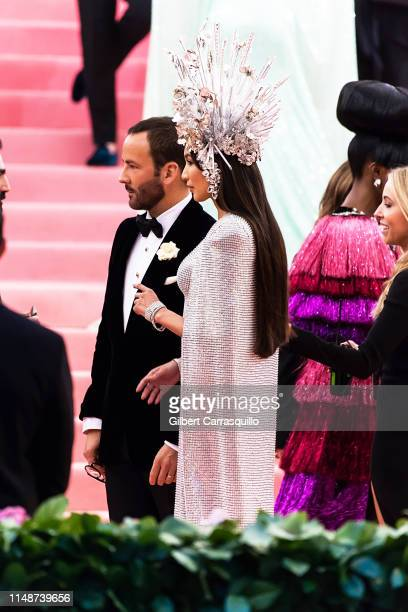 Fashion designer Tom Ford and actress Gemma Chan are seen arriving to the 2019 Met Gala Celebrating Camp: Notes on Fashion at The Metropolitan Museum...