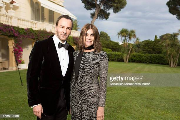 Fashion designer Tom Ford and Carine Roiteld attend the 22nd Gala for AmFar Cinema Against AIDS. Photographed for Paris Match at the Cap-Eden-Roc...