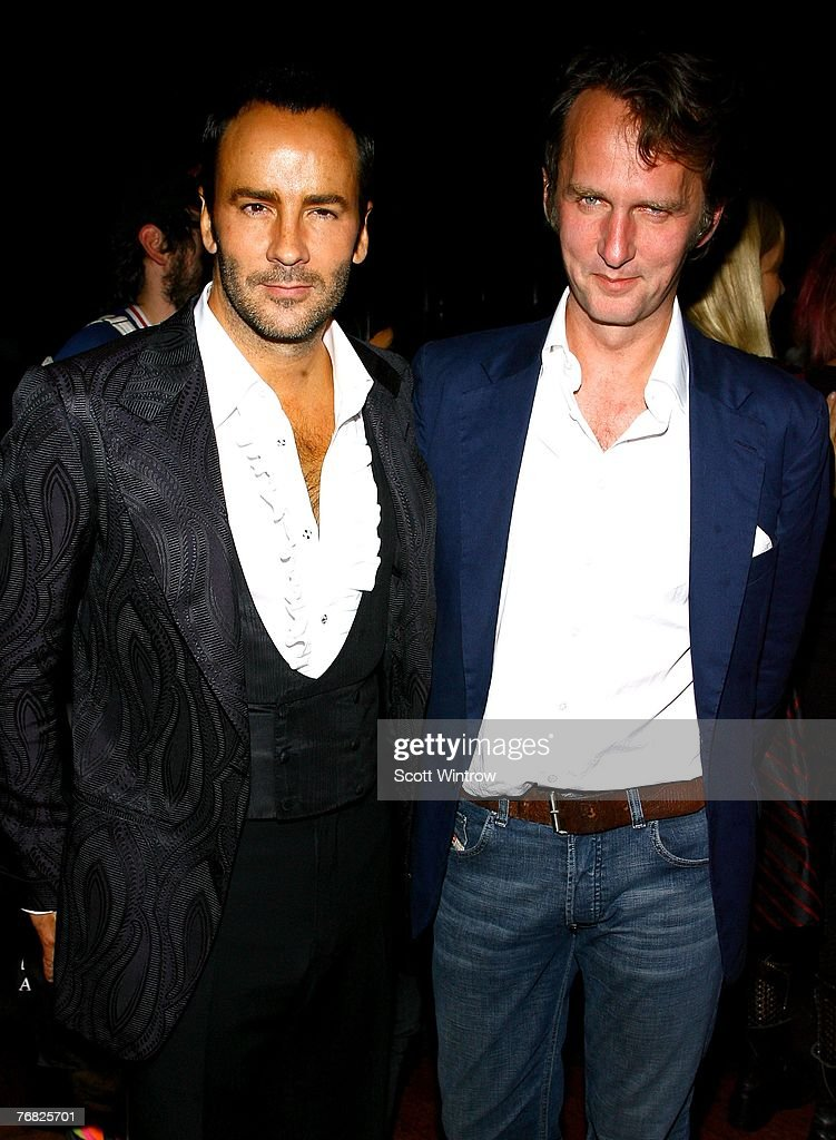 Fashion Designer Tom Ford And Tobias Attend Greeting Card By Artist News Photo Getty Images