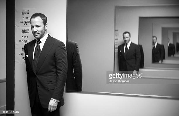 Fashion Designer Tom Ford attends the 2015 iHeartRadio Music Awards On NBC on March 29 2015 in Los Angeles California