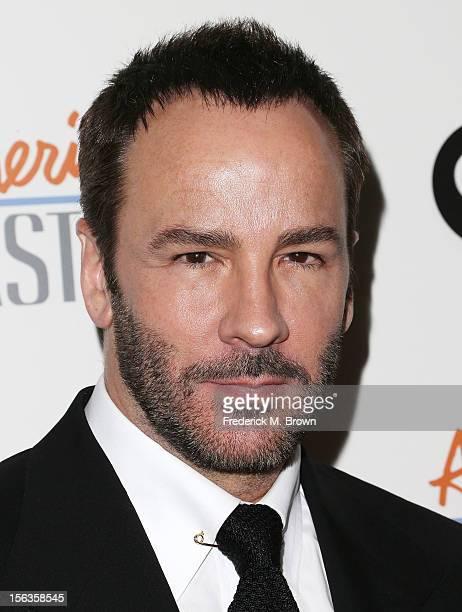 Fashion designer Tom Ford attends the Premiere Of 'American Masters Inventing David Geffen' at The Writers Guild of America on November 13 2012 in...