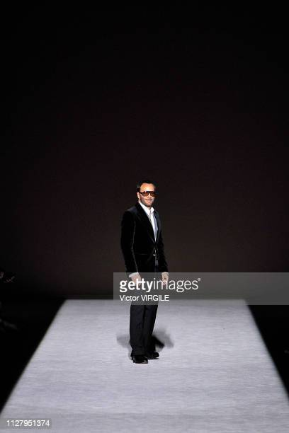 Fashion designer Tom Ford walks the runway at the Tom Ford Ready to Wear Autumn/Winter 20192020 fashion show on February 6 2019 in New York City