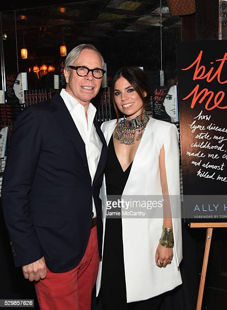 Fashion designer Tommy Hilfiger and Ally Hilfiger attend the launch of Ally Hilfiger's book 'Bite Me' hosted by Ally and Tommy Hilfiger at The Jane...