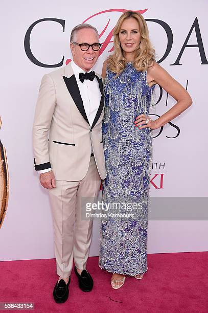 Fashion designer Tommy Hilfiger and Dee Hilfiger attend the 2016 CFDA Fashion Awards at the Hammerstein Ballroom on June 6 2016 in New York City