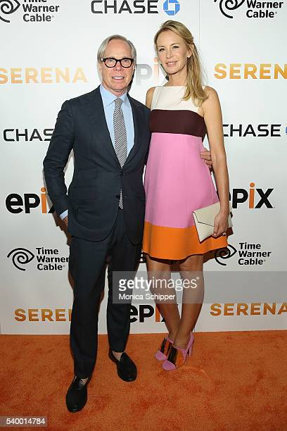 Fashion Designer Tommy Hilfiger and Dee Hilfiger attend the EPIX New York Premiere of 'Serena' on June 13 2016 in New York City