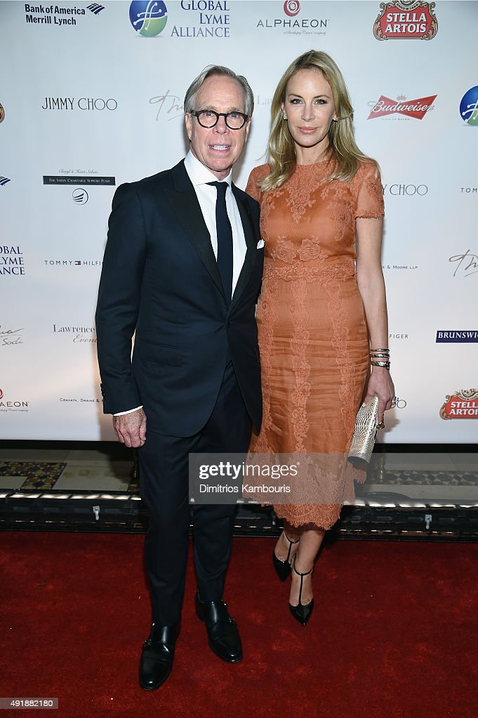 Fashion designer Tommy Hilfiger (L) and Dee Ocleppo attend the Global Lyme Alliance 'Uniting for a Lyme-Free World' Inaugural Gala at Cipriani 42nd Street on October 8, 2015 in New York City.