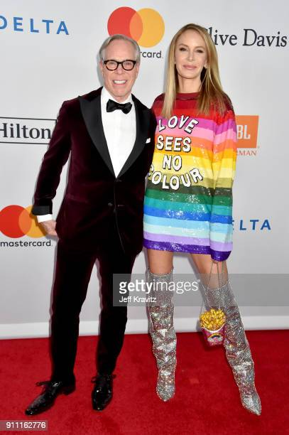 Fashion designer Tommy Hilfiger and entrepreneur Dee Ocleppo Hilfiger attend the Clive Davis and Recording Academy PreGRAMMY Gala and GRAMMY Salute...