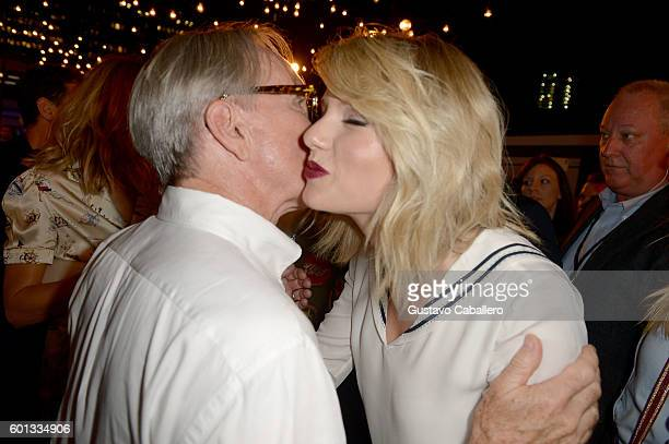 Fashion designer Tommy Hilfiger and Taylor Swift attend the #TOMMYNOW Women's Fashion Show during New York Fashion Week at Pier 16 on September 9...